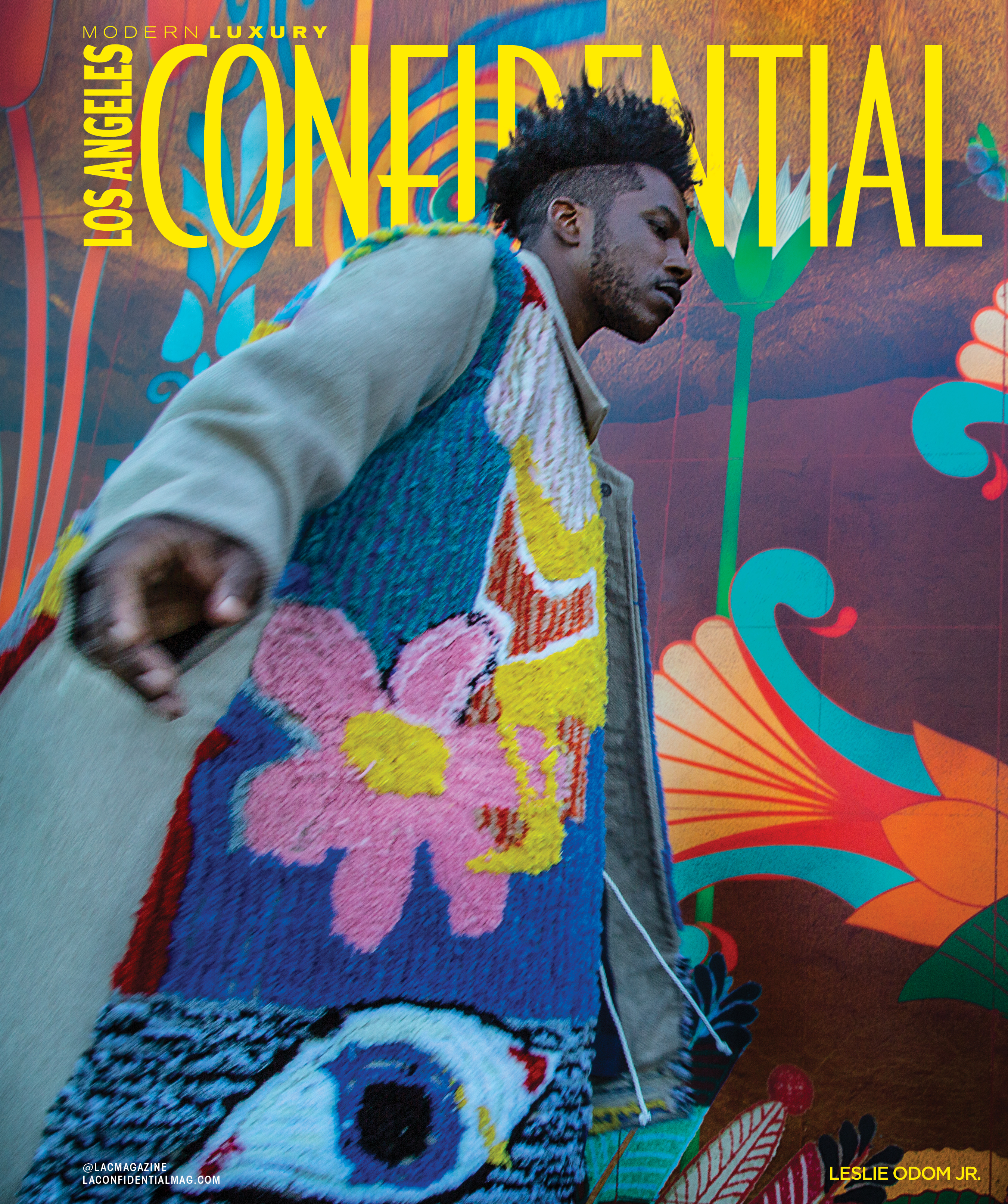 Leslie Odom Jr. on L.A. Confidential magazine cover.