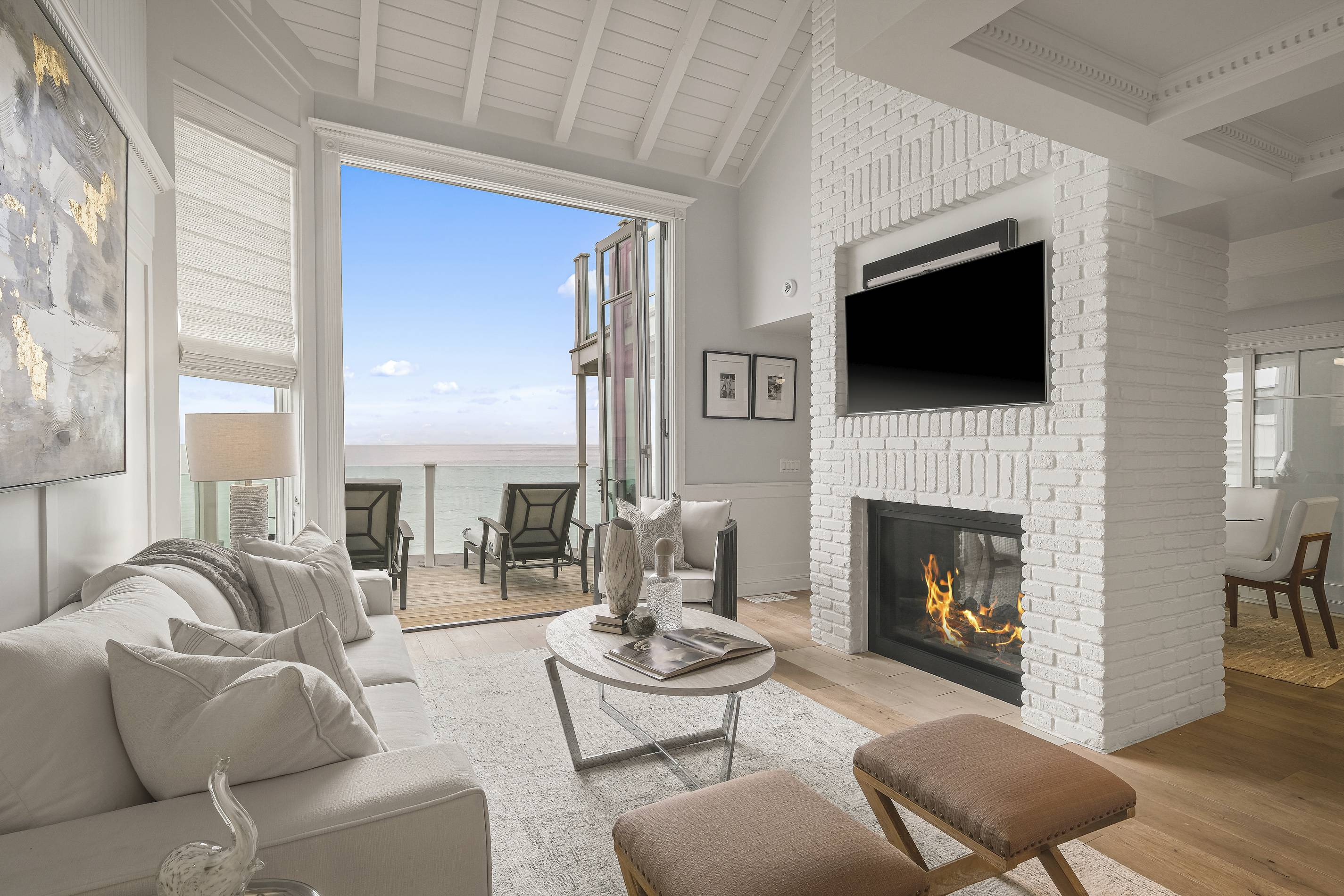 Judy Garland's Malibu Home living room