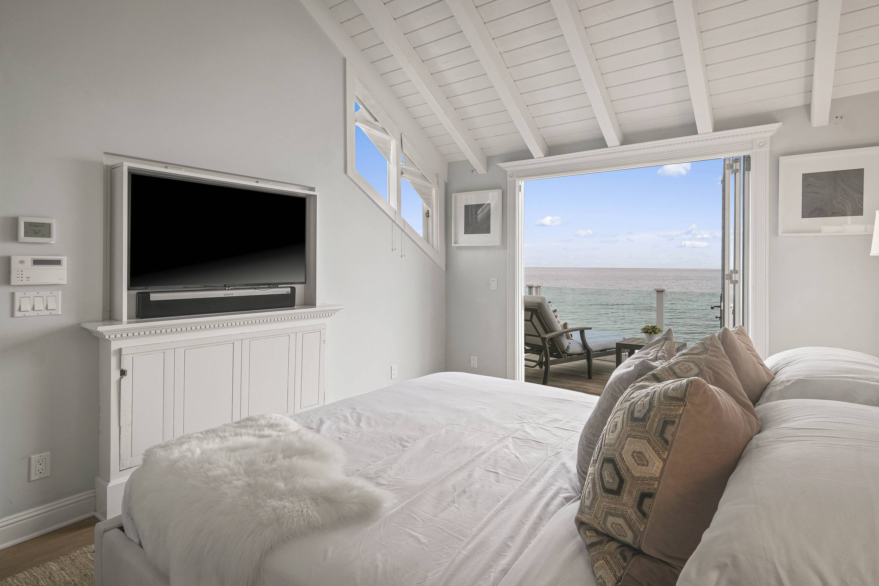 Judy Garland's Malibu Home master bedroom